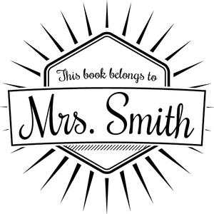 Image of This Book Belongs to Personalized Stamp 2