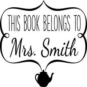 Image of This Book Belongs to Personalized Stamp 3