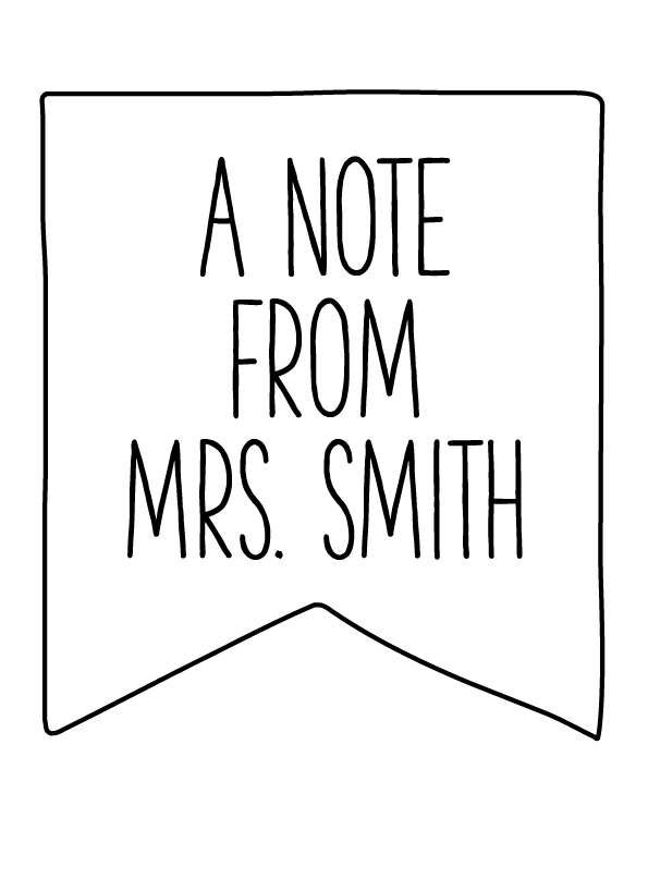 Image of A Note From Personalized
