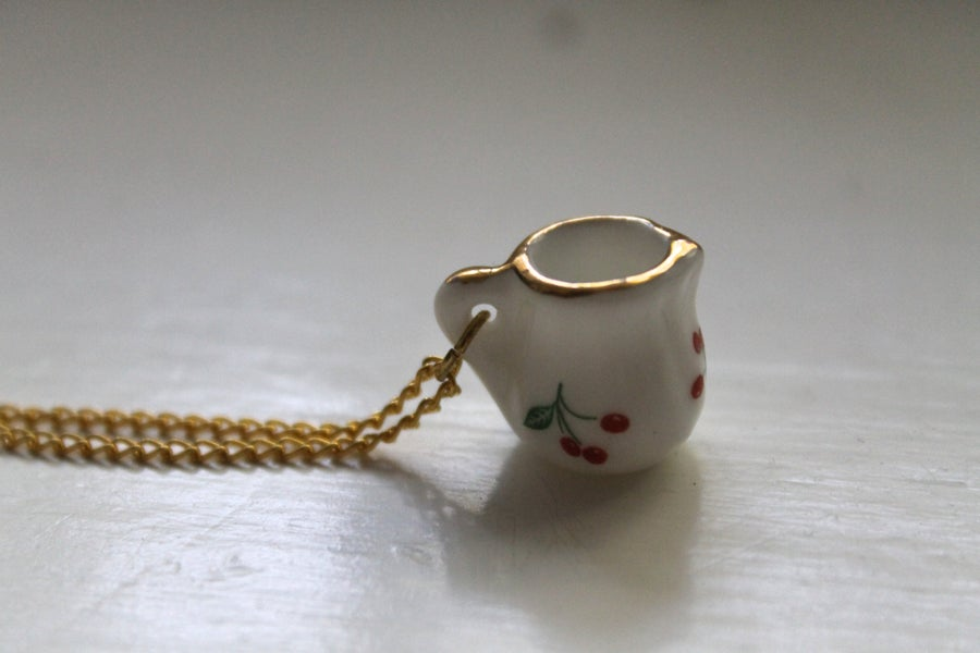 Image of Mini Cherry Pitcher Necklace (Originally $20)