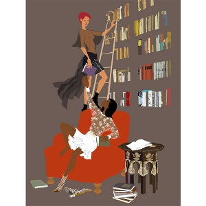 Image of Library ladder
