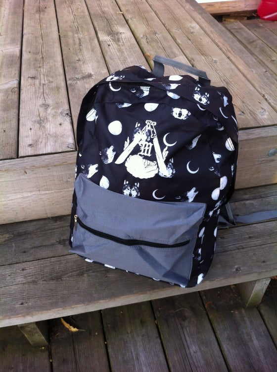 Image of Bark at the Moon back pack
