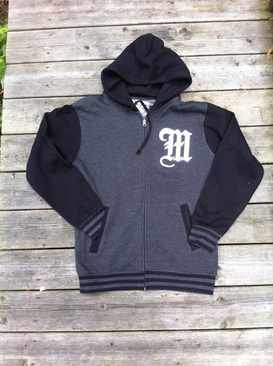 Image of Varsity zip hood