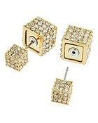 Image of Double Lux Cubed Earrings