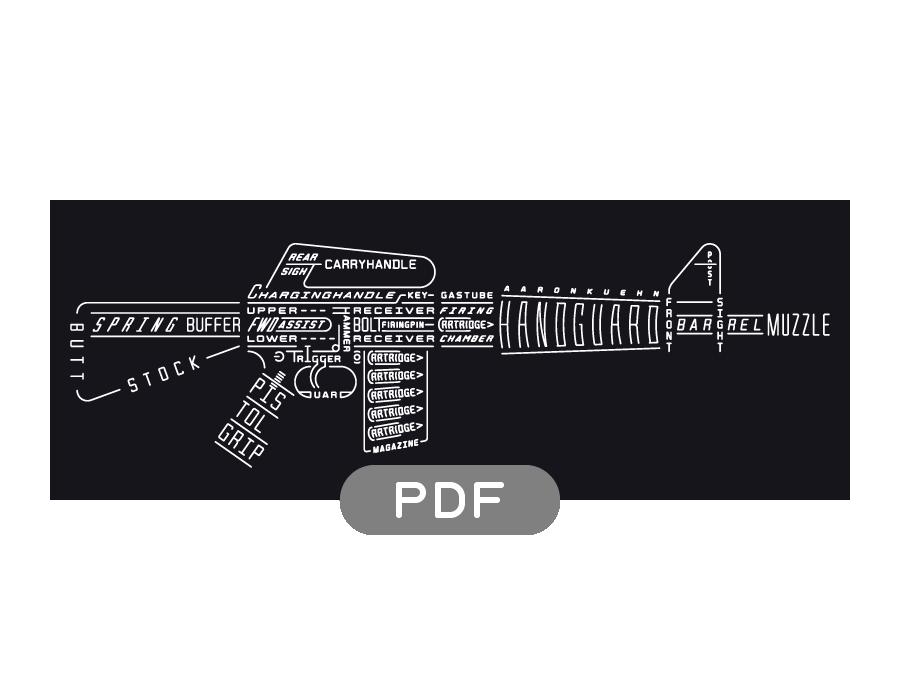 Image of Rifle Typogram - PDF File