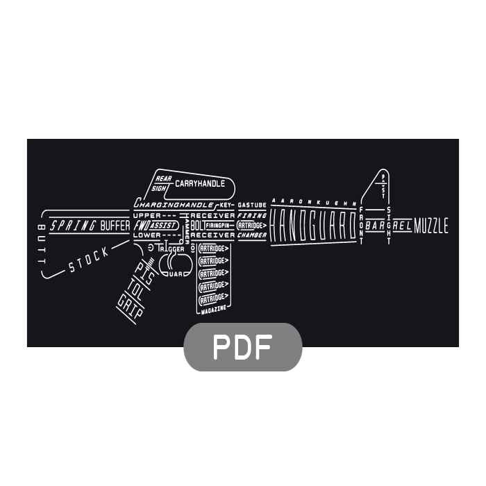 Image of Rifle Typogram - PDF File Download