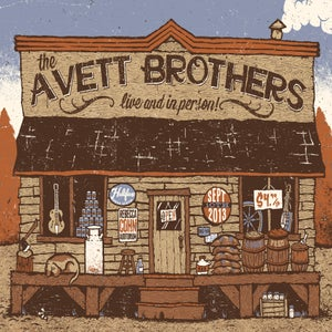 Image of Avett Brothers Gig Poster (unofficial)