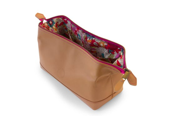 Image of Leather cosmetic bag - pink