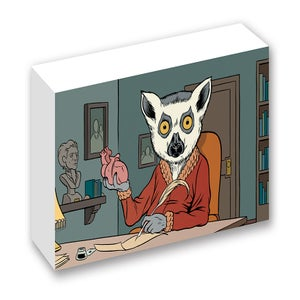 Image of Lemur Library Print