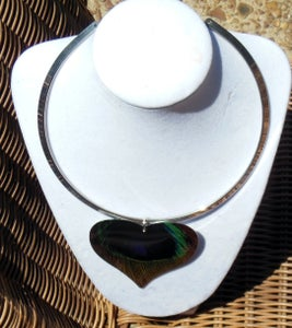 Image of Peacock Torc Necklace