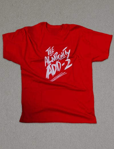 "Image of ""Almighty Add-2"" T-Shirt (RED)"