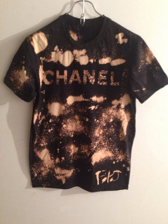 Image of Bleached Burn Chanel T-shirt