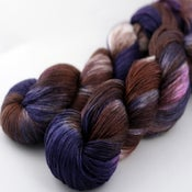 Image of Blackberry Truffle - Merino/Silk Sock Yarn