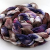 Image of Blackberry Truffle - Superwash Merino/Cashmere/Silk Wool Top/Roving