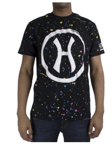 Image of Hudson NYC Pollock H Twisted Cotton Short Sleeve Knit Black