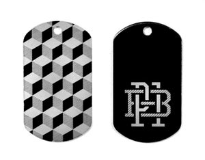 "Image of ""Monogram"" Key Tag (P1B-A0500)"