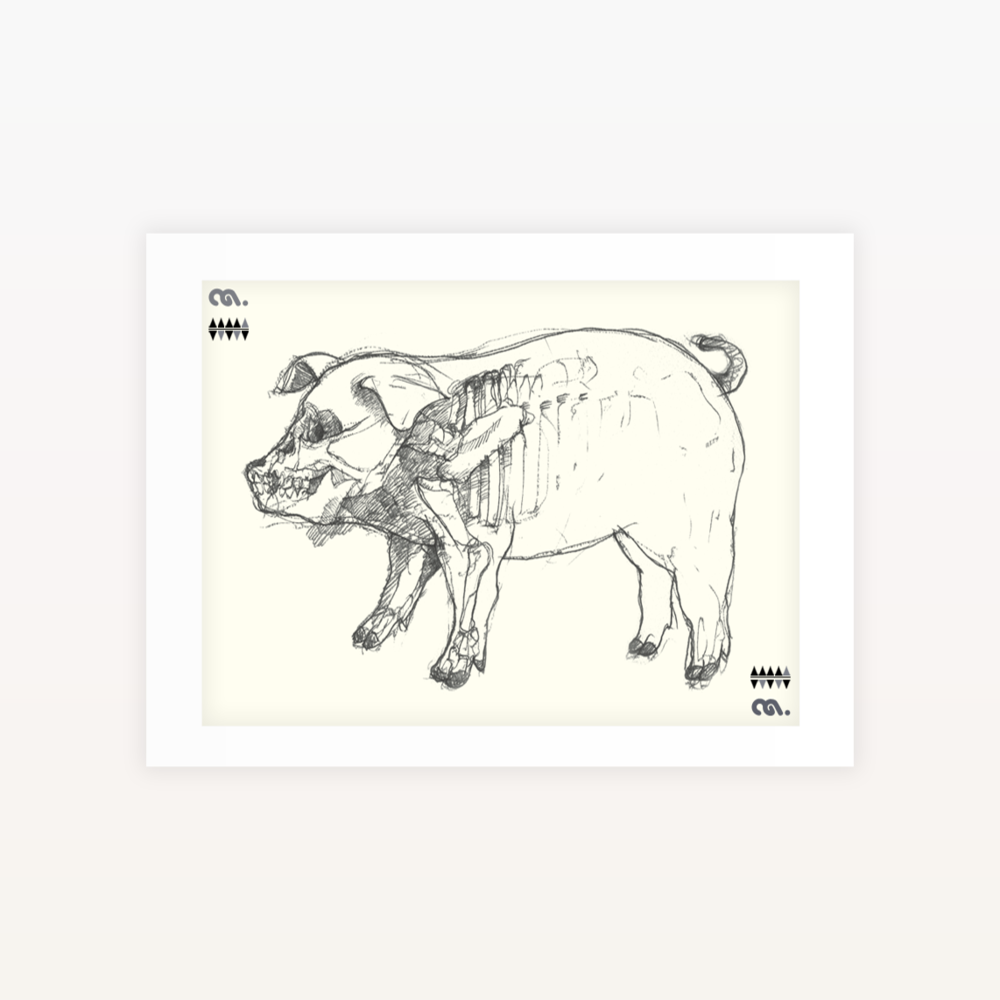 Image of Piggy - Ltd edition Screen print