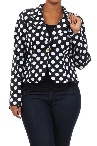 Image of Plus polka dot blazer