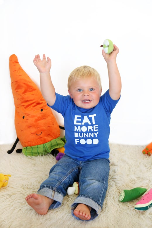 Image of Kids/Toddler Eat More Bunny Food T-Shirt