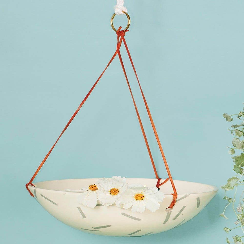Image of GREY SPRINKLES HANGING POT