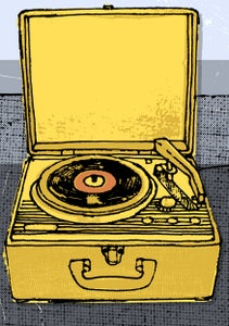 Image of portable record player #6 - print - illustration