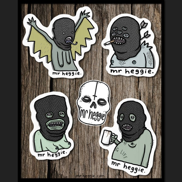 Image of The Monster Super Shitty Sticker Set