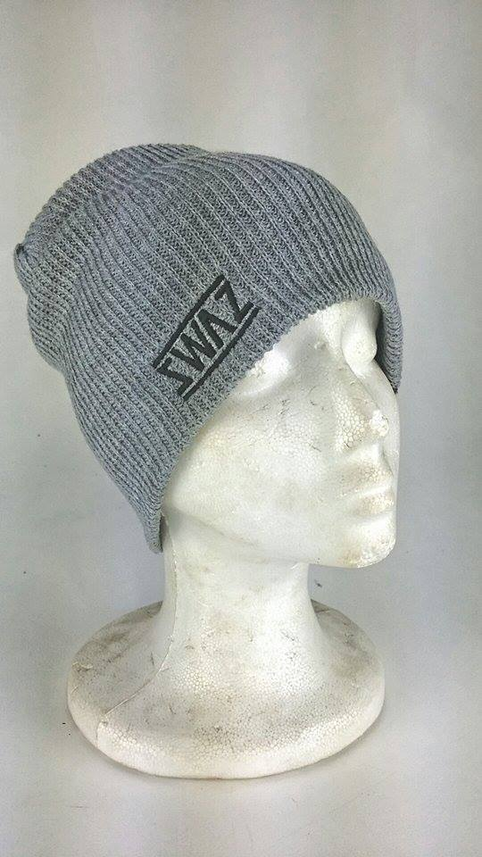 Image of Swaz Slouch Beanies 'Black on Grey'