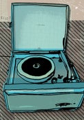 Image of portable record player #7 - print - illustration