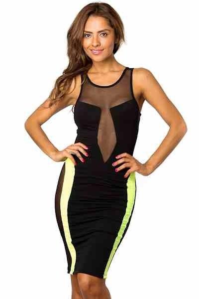 Image of Neon Mesh Dress