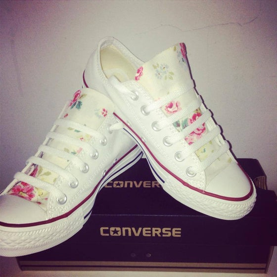 Image of Cath Kidston Floral Customised Converse