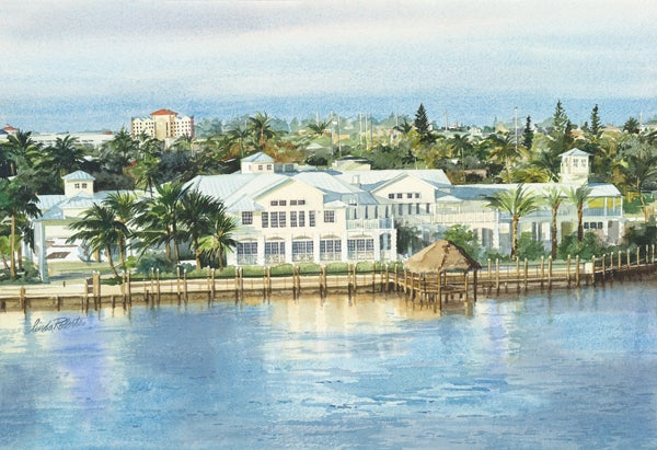 "Image of ""Marco Island Yacht Club"" original watercolor"