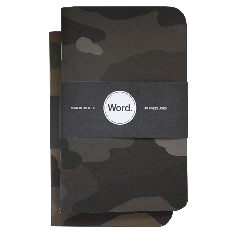 Image of Word. Notebooks - Camo