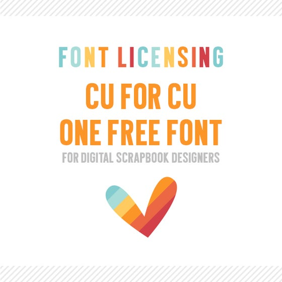 Image of Digital Scrapbook Designers :: CU4CU One Font