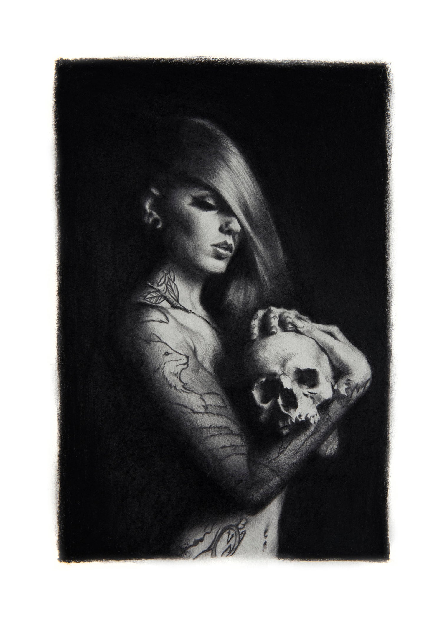 Image of Limited Edition 'Cervena with Skull' Print