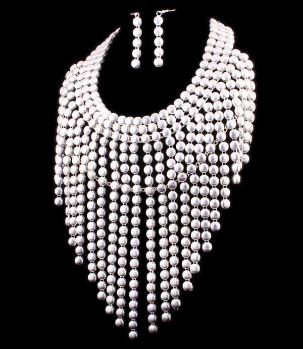 Image of Silver Shawl Necklace