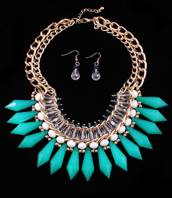 Image of Green Tribal Necklace