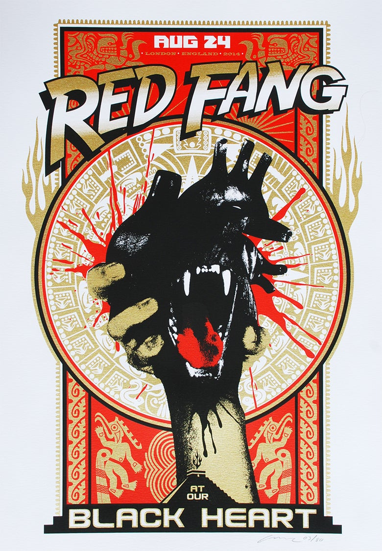 Image of Red Fang at the Black Heart London Silkscreen Poster