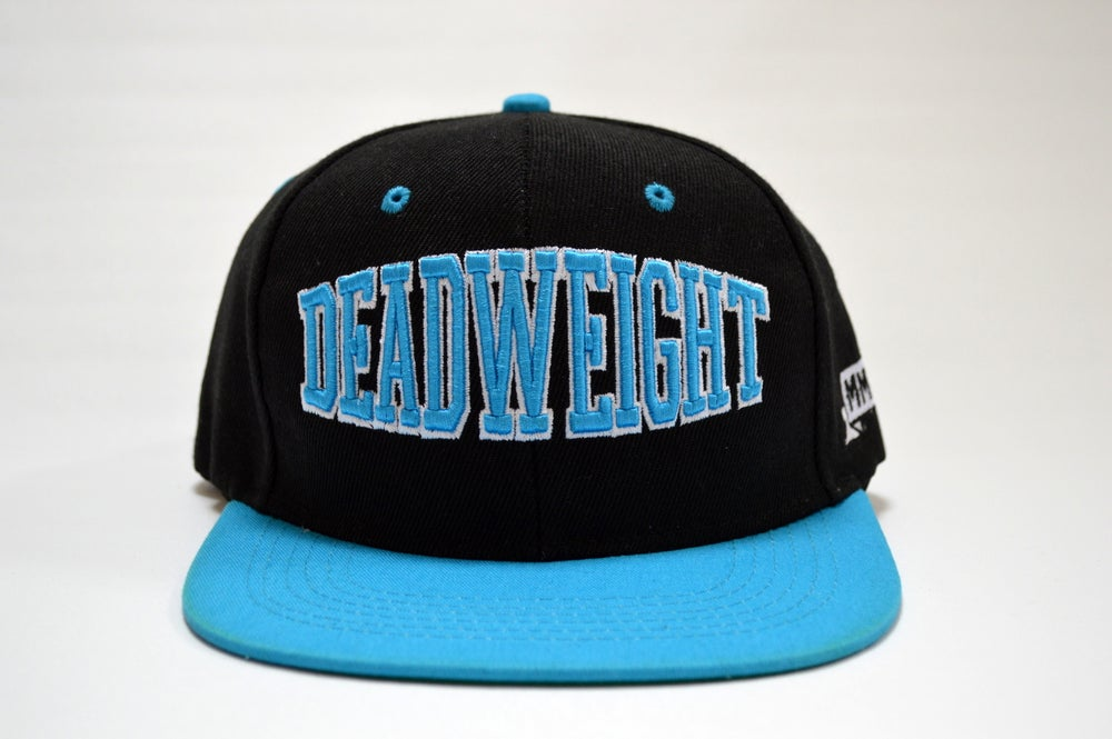 Image of Varsity Snapback - Black and Turquoise
