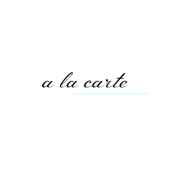 Image of .a la carte.