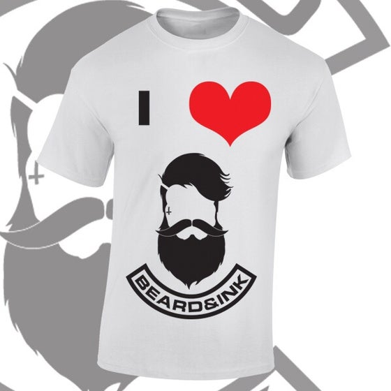Image of I ❤️ Beard & Ink Front Logo Tee