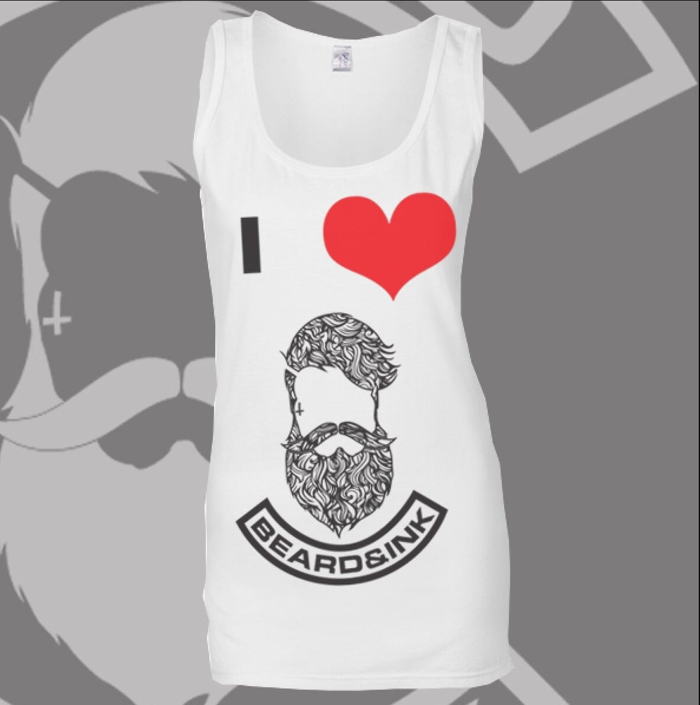 Image of I ❤️ Beard & Ink Patterned Logo Vest