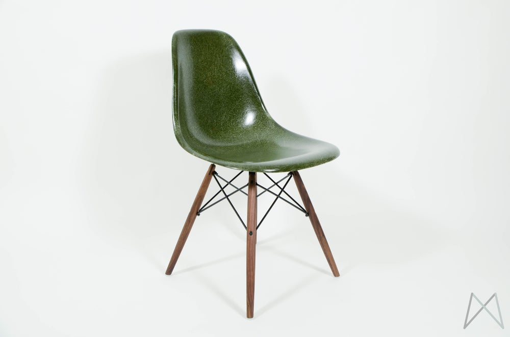 Image of Eames Herman Miller Forest Green Chair DSW DSR DSX