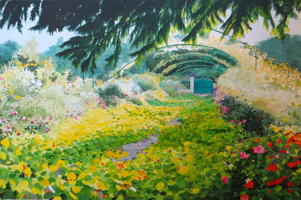 "Image of ""Impressionist""s Garden"" original watercolor"