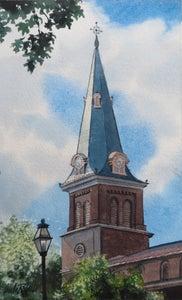 "Image of ""St. Anne's Annapolis"" original watercolor"
