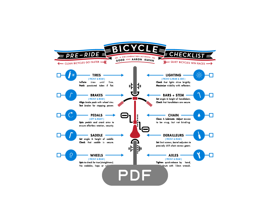 Image of Bicycle Pre-Ride Checklist - PDF File