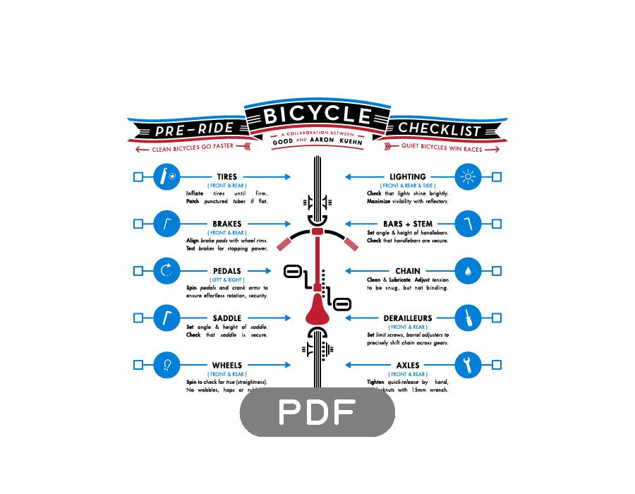 Image of Bicycle Pre-Ride Checklist - PDF File