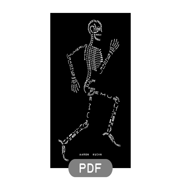 Image of Skeleton Typogram - PDF File Download