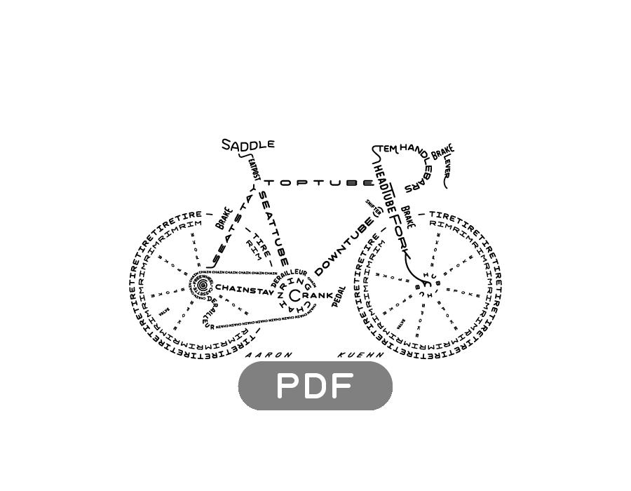 Image of Bicycle Typogram - PDF File
