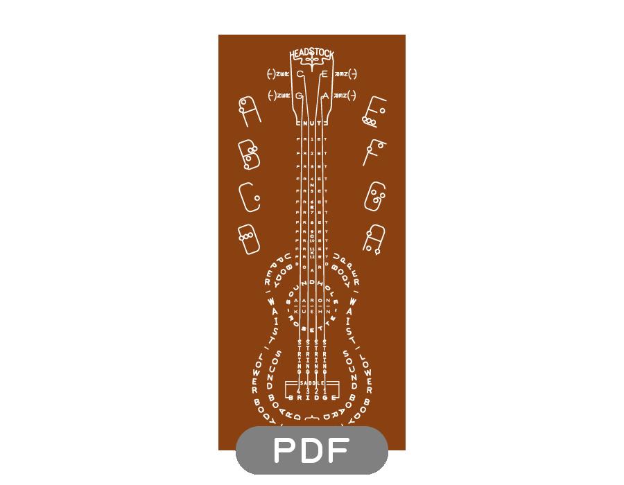 Image of Ukulele Typogram - PDF File