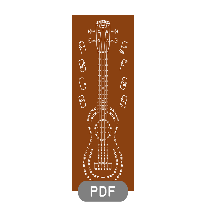 Image of Ukulele Typogram - PDF File